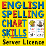 S-78 English Spelling Chart Skills CD (Server Licence)